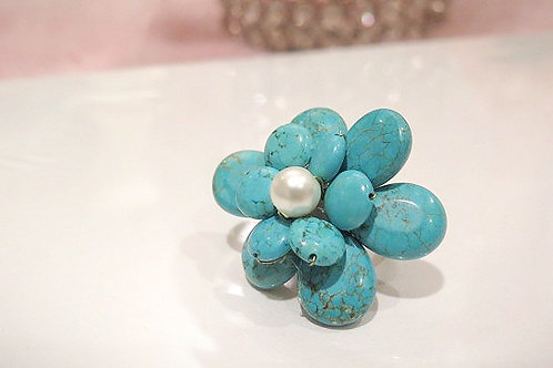 'Florette' Handcrafted Turquoise Ring