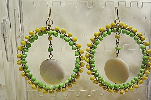 Lemon 'Ziva' Yellow Earrings