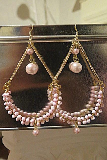 """""""Victoria"""" Pink Earrings"""