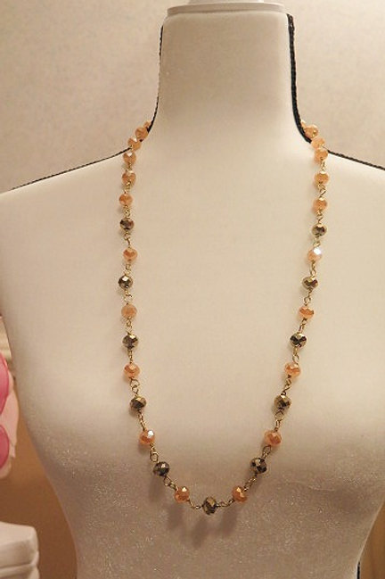 """Leona"" Brown Necklace"