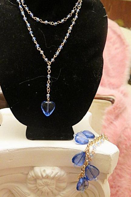 """""""Leona"""" Blue Jewelry Set"""
