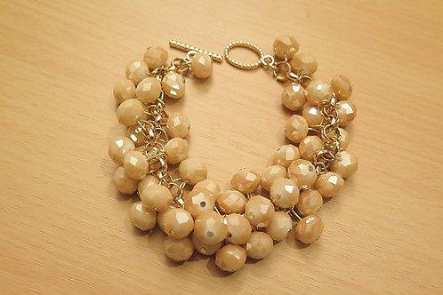 'Reina' Gold Brown Bracelet