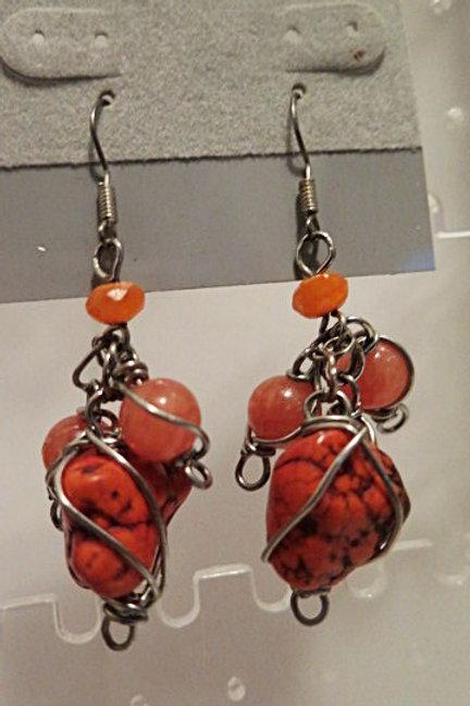 Orange  Earing