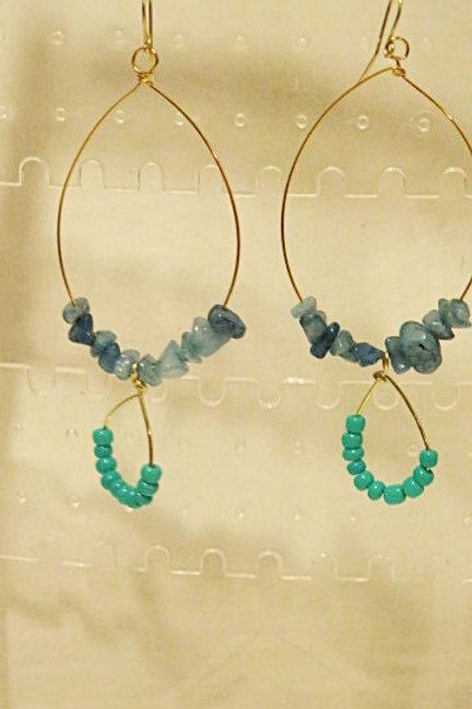 """""""Ziva"""" Blue Earrings"""