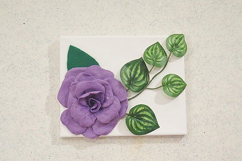 3 D Purple Floral Wall Arts