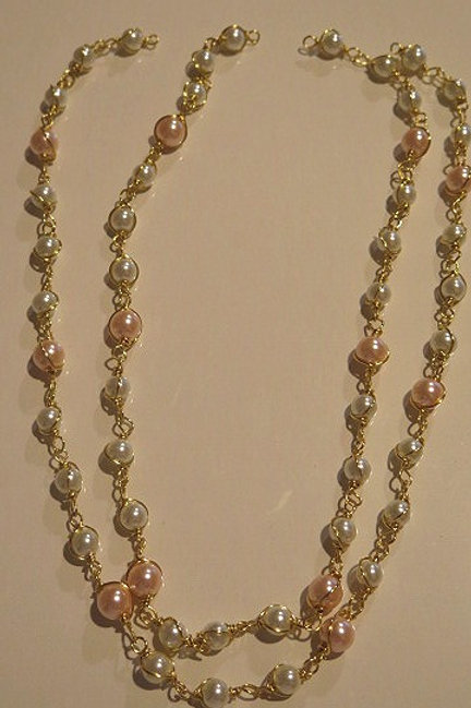 Pink/White Pearl loose Pearls