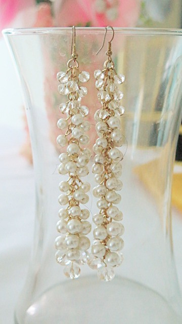 Long Pearl Earrings It Measures 5
