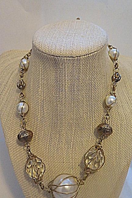 """""""Leona"""" Wire Wrap Necklace"""