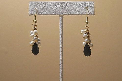 Black White Reina Earring