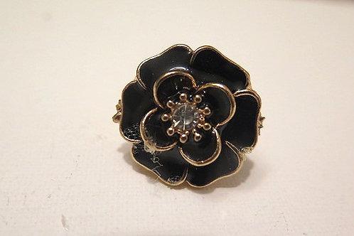 Black Floral Ring