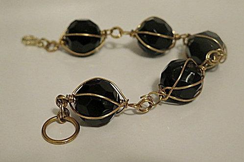 Black Wire Wrap Bracelet