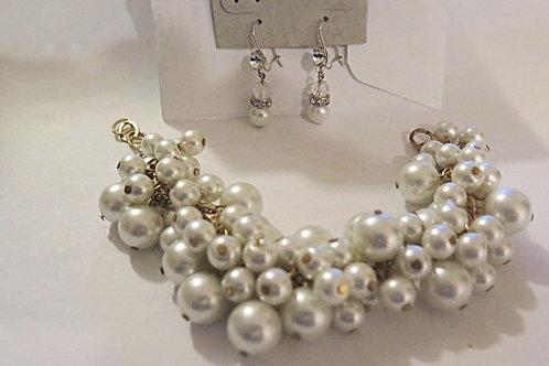 Cluster Earring and bracelet