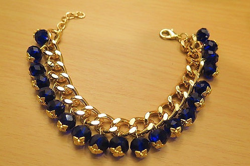 """Reina"" Deep Blue Bracelet"