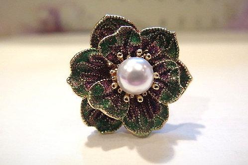 'Princess' Green Cocktail Ring