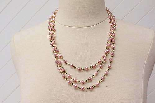 Pink Multilayer Necklace