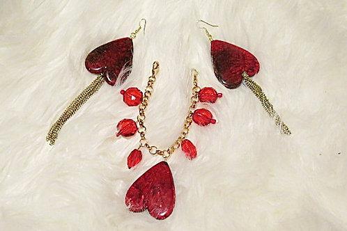 """Reina"" Red Jewelry Set"
