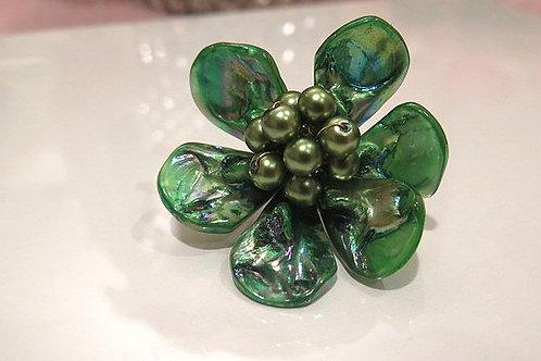 'florette' Green Glass Ring