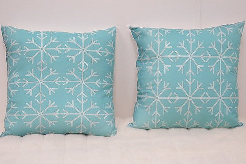 Mint and White Decorative Pillow Cases