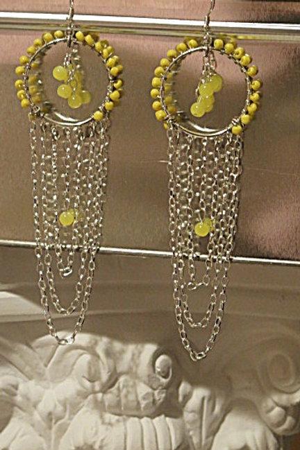 """Yellow """"Ziva"""" Earrings"""