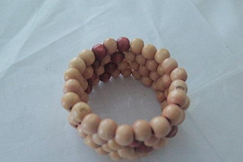 """""""Sabrina"""" Wooden Spiral Bracelet"""