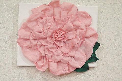 3 D Pink Rose Wall Arts