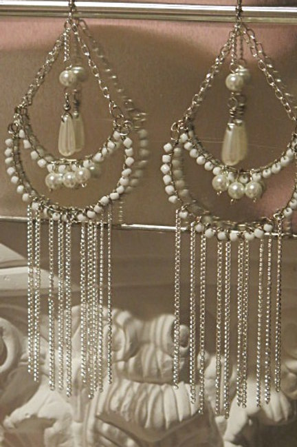 """""""victoria"""" Double Fringes Earrings"""