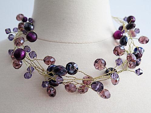 """Trixie"" PurpleTwist Necklace"