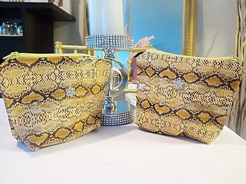 Yellow Snake print bag
