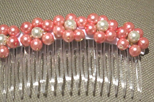 Pink White Hair Comb