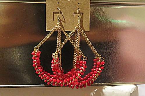 """""""Victoria"""" Red Earring"""