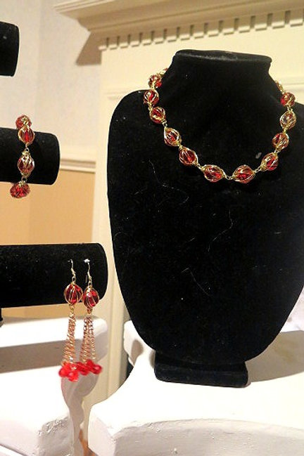 """Leona"" Red Set Jewelry set"