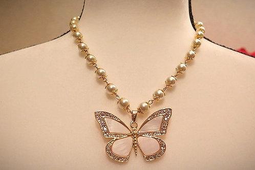"""Parisien"" Butterfly Necklace"