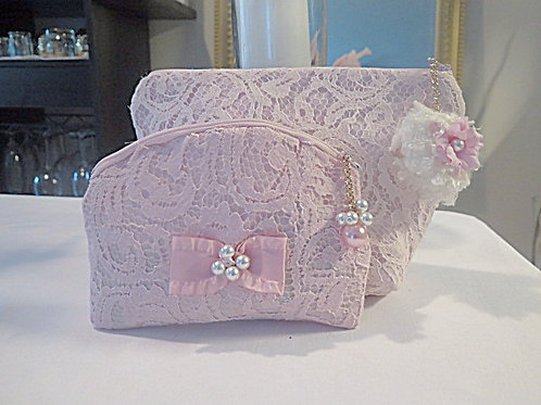 Pink Lace Bags
