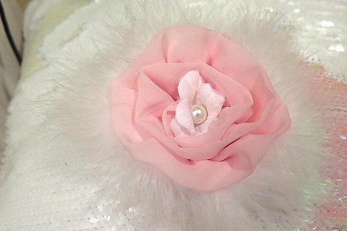 Pink/White Floral Brooch