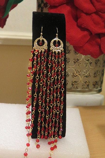 Zelda Red Earrings
