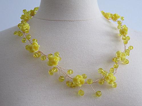 'Trixie' Yellow Twist Necklace