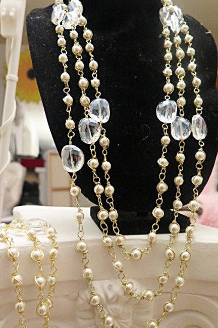 """Parisien"" Multi-layer Pearl Jewelry Set"