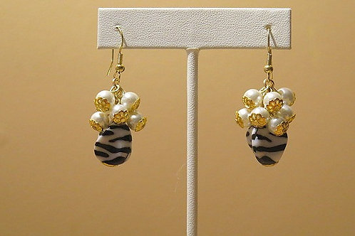 Zebra Reina Earrings