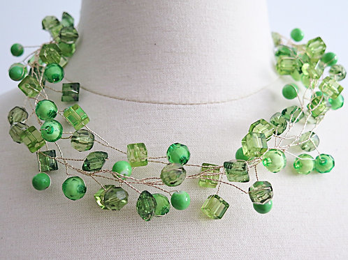 """Trixie"" Green Necklace"