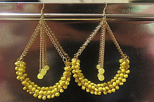 """Victoria"" Yellow Earrings"
