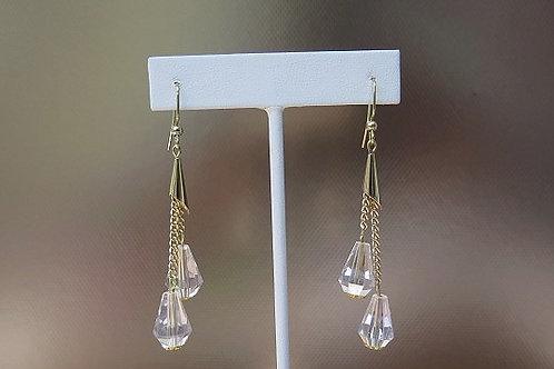Gold Tone Dropping Earrings