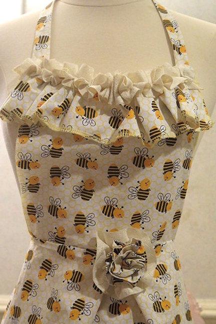 Bee Print Apron