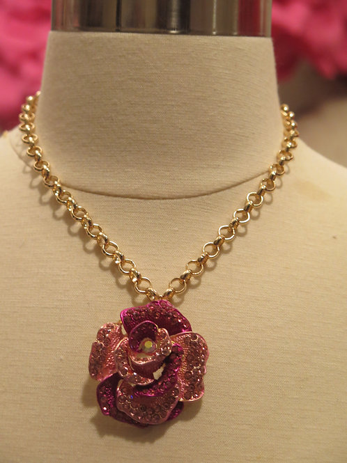 'princess' Pink Floral Necklace