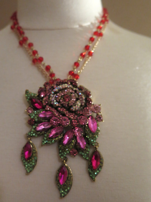 Pink Red Necklace