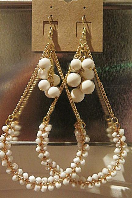 """""""Victoria""""  White Earrings"""