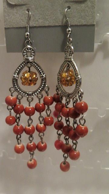 Orange chandelier earrings mysite small chandelier earringsthey measure 35 aloadofball Gallery