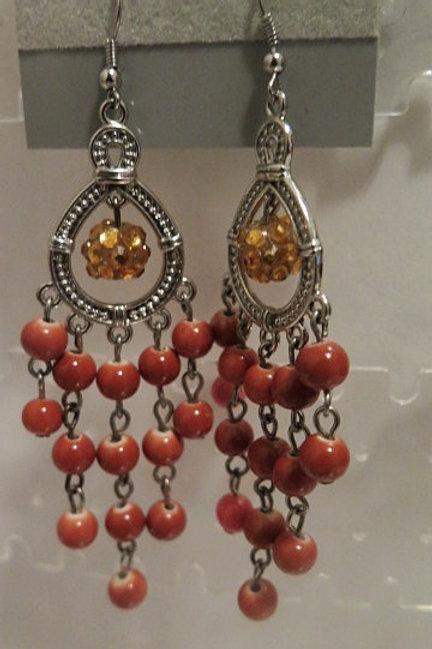 Orange 'Zelda' earrings