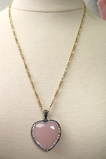 Pink Heart Shape Necklace