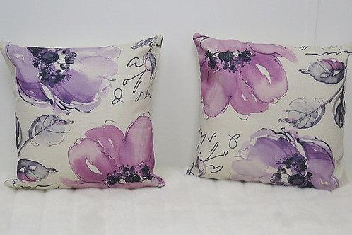 Brown Purple Decorative Pillow Cases