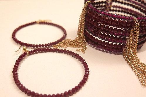 Amethyst Dionette Bracelet  and Ziva Earring